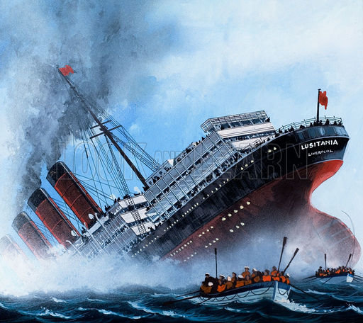 Lusitania, picture, image, illustration