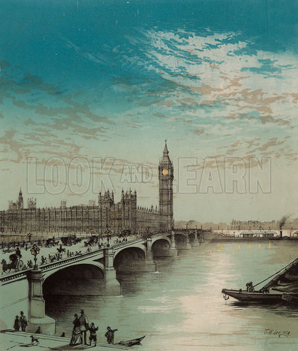 Houses of Parliament, picture, image, illustration