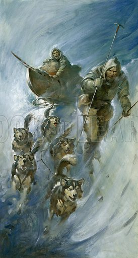 Fridtjof Nansen, Norwegian polar explorer, on an expedition to the Arctic