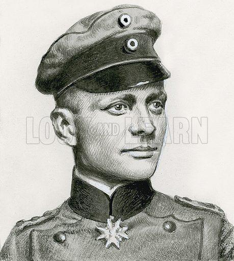 Lieutenant Manfred von Richtofen, the Red Baron.