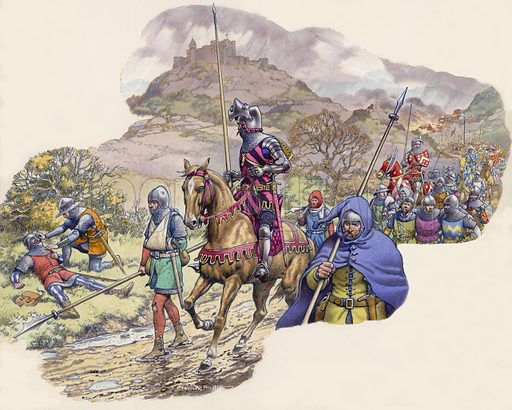 The Hundred Years War. John of Gaunt's men tried without success to bring the French to battle, but they stayed put in the castles and watched while their countryside was ravaged.