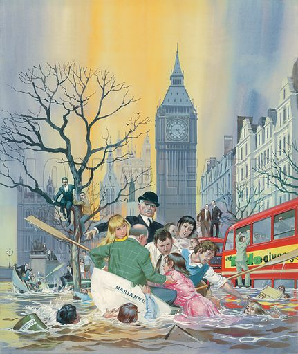 Thames Flood by Angus McBride