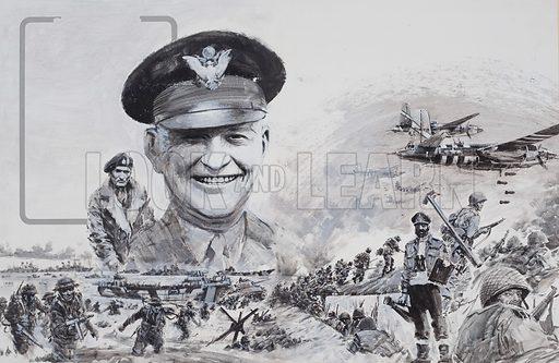 Ike on D Day, piture, image, illustration