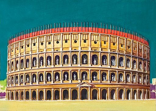 Reconstruction of the Colosseum.