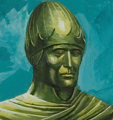 Pope Gregory I.  Original artwork.