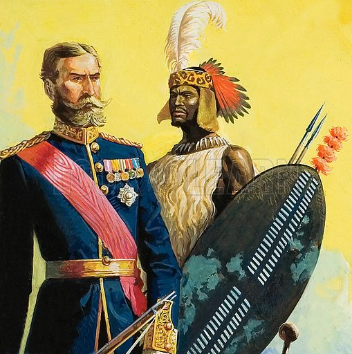 Lord Chelmsford and King Cetewayo of the Zulus.