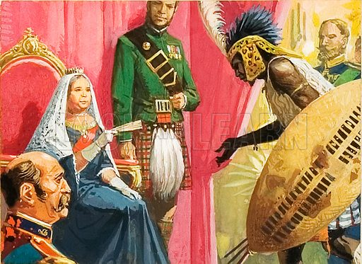 King Cetewayo of the Zulus being presented to Queen Victoria.