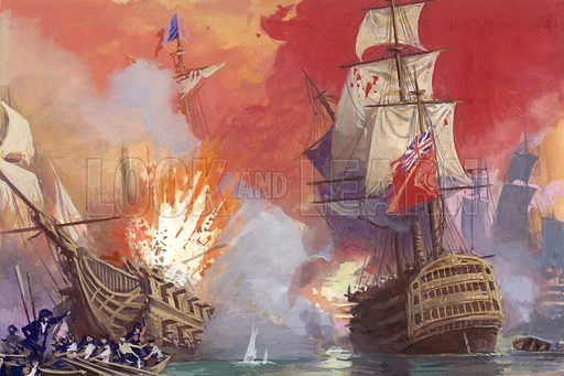 British naval battle with the French during the Napoleonic wars.