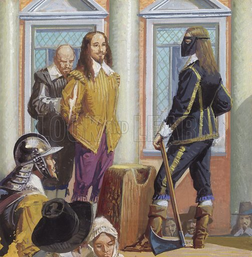 Execution of Charles I, picture, image, illustration