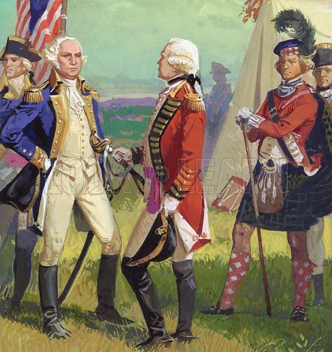 surrender of lord cornwallis to george washington look and learn