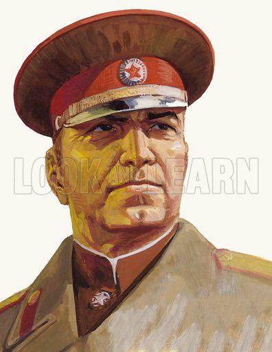 Russian General Georgi Zhukov.