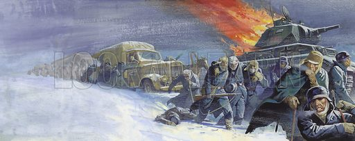 German soldiers after the battle of Stalingrad.