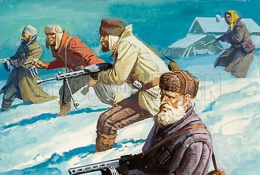 Russians defending their country during Hitler's invasion.