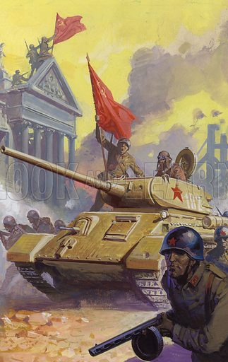 The Russian assault on Berlin at the end of World War II.