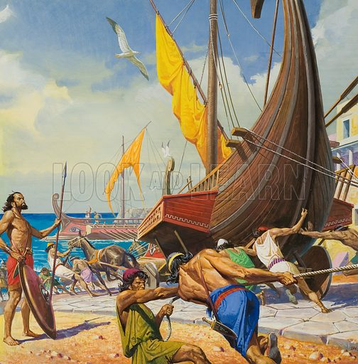Conquering by Genius.  With the Tarentine fleet locked in the inner harbour, Hannibal demonstrated his brilliance by having the ships taken out over land.  Once at sea, they soon managed to blockade and reduce the Roman garrison of Tarentum's strongly fortified citadel.