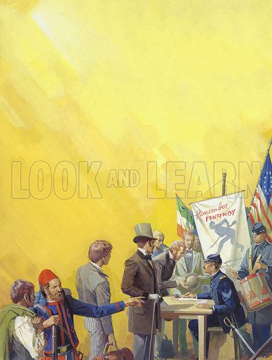 Irish recruitment for the American Civil War. Almost 150,000 men of Irish descent were recruited into the Union army during the American civil war, many of them into the special Irish Brigade. Both sides played on Irish nationalism – posters appeared reminding expatriate Irishmen of victories over the English; but the outcome of the war did nothing for Irish freedom.