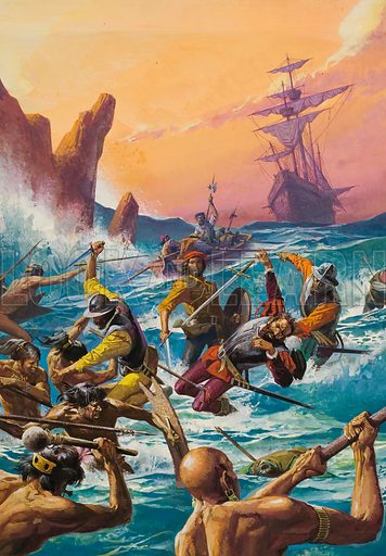 The First Men Around the World.  The crews of Ferdinand Magellan