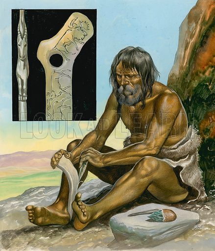 Stone Age Man. Source as yet unidentified.