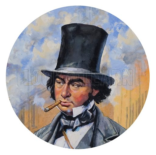 Marc Isambard Brunel who became closely associated with the development of the railways in Britain.
