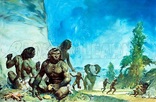 Stone age people.