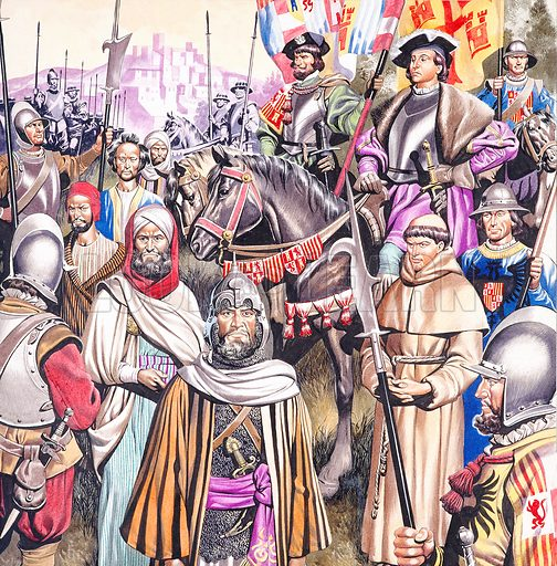 The Crusades. Original artwork for illustration in Look and Learn (issue yet to be identified). Scanned from transparency.