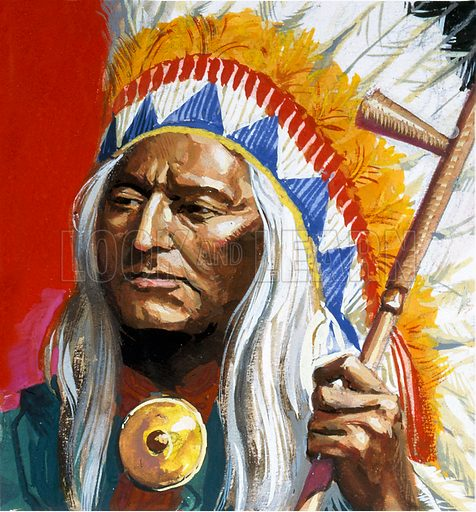 picture, American Indian, Native American, chief, chieftain, United States of America