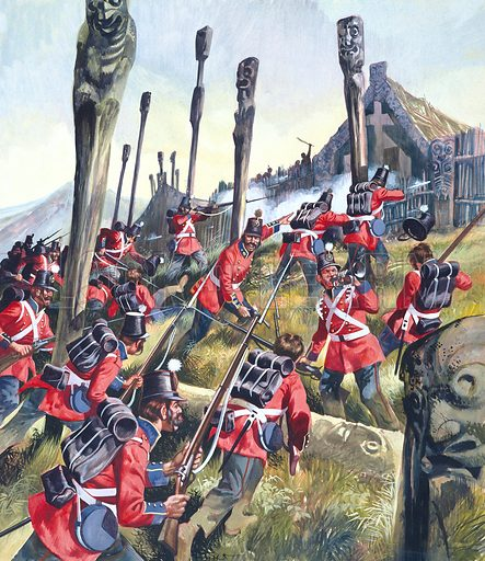 Battle of Tauranga,  picture, image, illustration