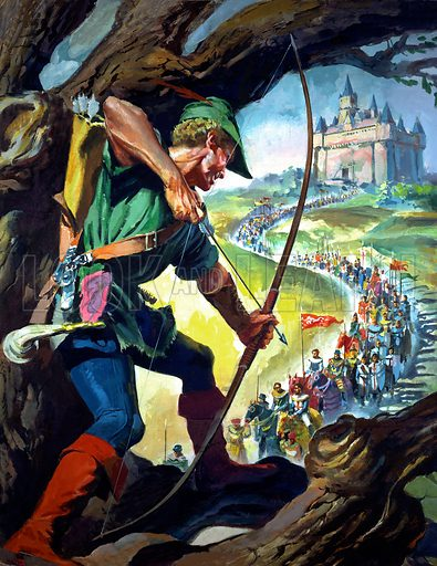 Robin Hood (picture, illustration, art, image, original artwork: James E McConnell)