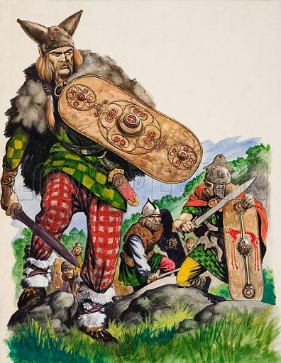 Ancient Celtic warriors.