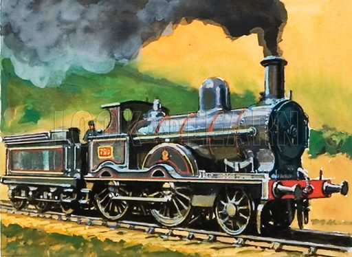 London and North Western Precedent Class locomotive.