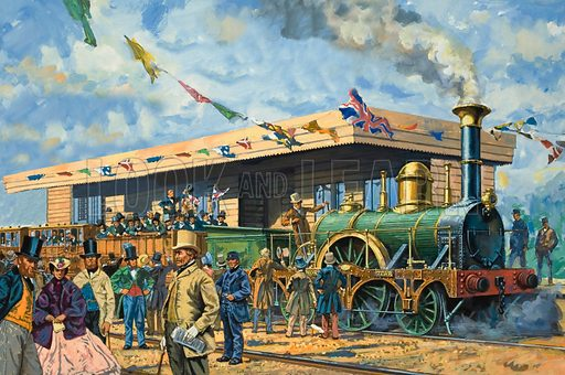 Rail Fever. A Stephenson locomotive, North Star, hauled one of the inaugural trains at the formal opening of the broad-guage Great Western Railway in 1838.