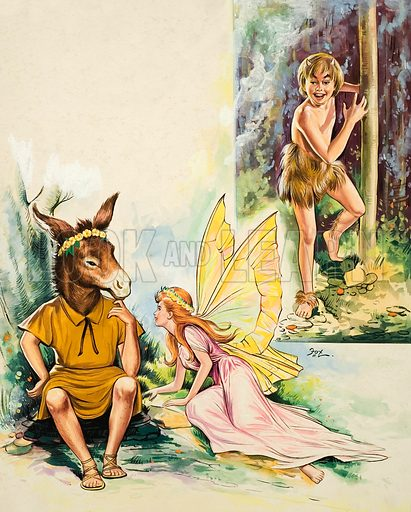 Midsummer Night's Dream.  Original artwork for illustration in Treasure 21 October 1967.