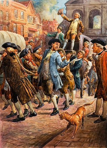 Wilkes and Liberty, picture, image, illustration