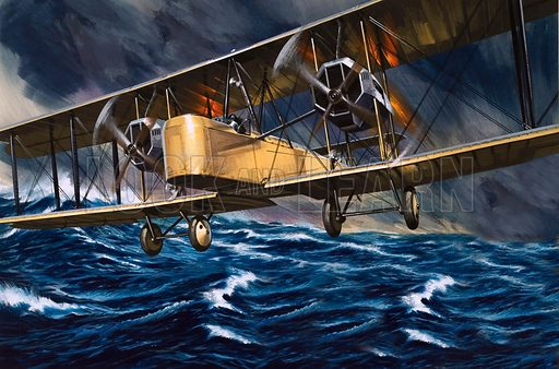 Vimys Over the Waves. In June 1919 two young Airforce pilots became the first men to fly across the Atlantic when their Vickers Vimy converted bomber made the journey from Newfoundland to Ireland in a little under 16 hours.