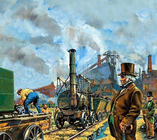 Puffing Billy, a colliery locomotive built by engineer William Hedley, assisted by Timothy Hackworth, who later took part in the Rainhill trials for the LIverpool and Manchester Railway.