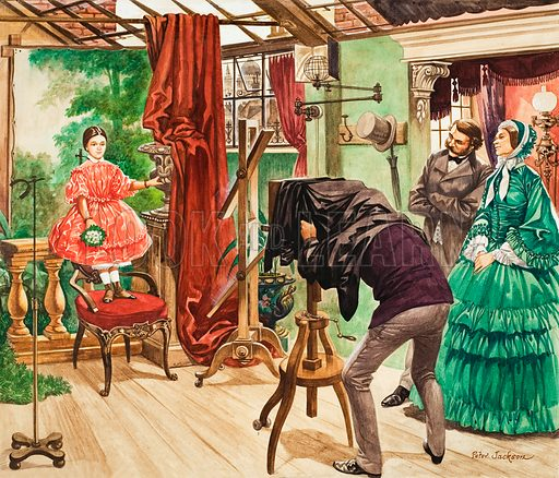 Victorian photographer (illustration, picture, artwork; Peter Jackson)