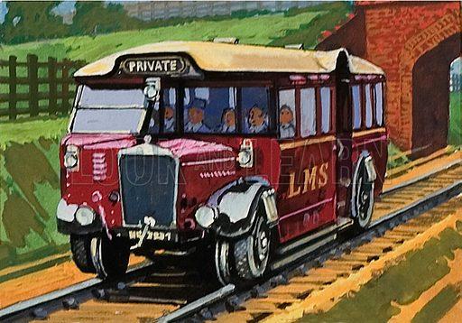 "1930 LMS""Ro-Railer"" capable of running on road or rail."