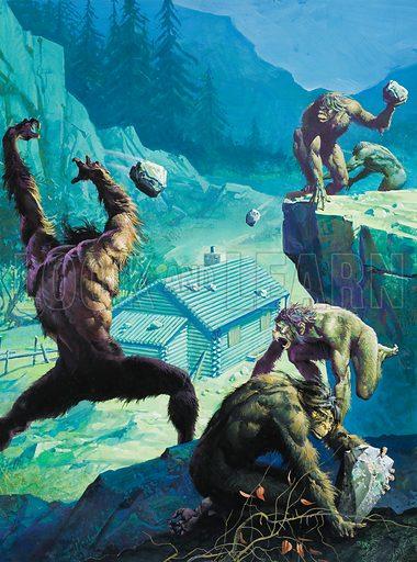 Big Foot, or legendary American Man-Apes