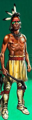 Iroquois warrior.