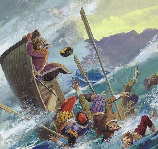 Richard Chancellor, thrown into the tempestuous sea.