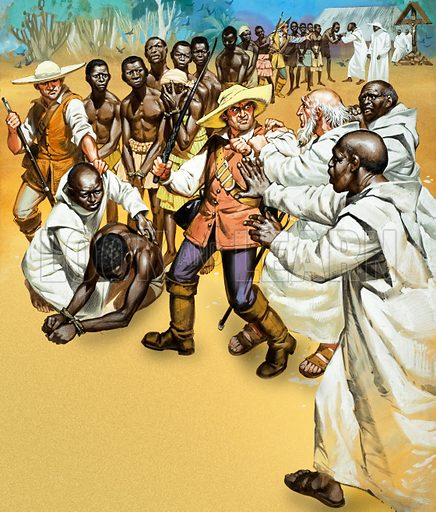 Slavery. In Angola, Portuguese missionaires and Christian negroes often attempted to prevent the ill-treatment of slaves.