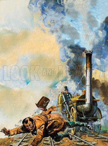 Death of Huskisson, picture, image, illustration
