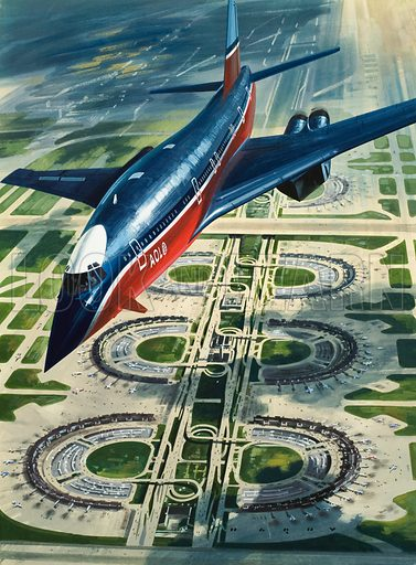 Dallas Forth Worth Airport (art, illustration, artwork, picture: Wilf Hardy)
