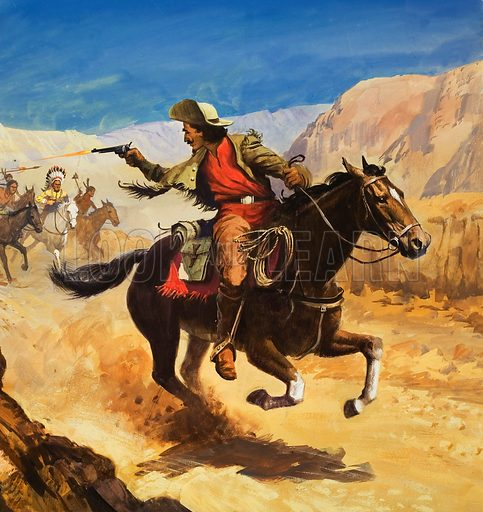The Pony Express. Original artwork for cover of Treasure issue no 396.