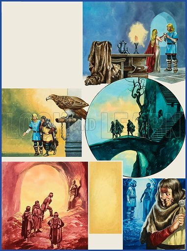 The Ring of the Nibelungs. Original artwork for illustration on p48 of Look and Learn issue no 573 (6 January 1973).