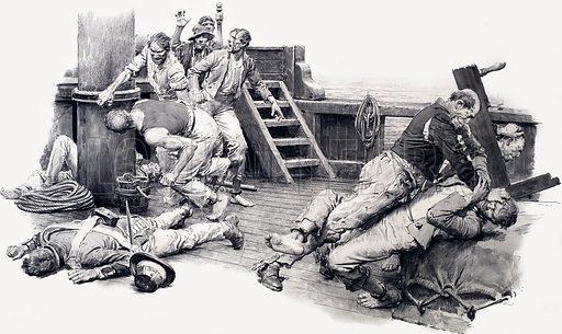 Sailors fighting.