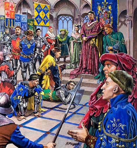 Dynasties of Destiny: The Men Who Ruled Burgundy. Original artwork from Look and Learn no. 752 (12 June 1976).