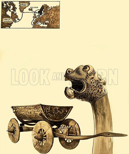 Icelandic artifacts.  Original artwork from Treasure issue of 6 Dec 1967.