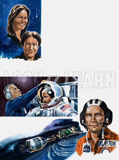 Inside Story: The Women Who Will Conquer Space. From Look and Learn no. 981 (27 December 1980). Original artwork.