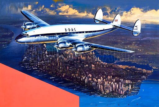 BOAC Plane. From Speed & Power (19 June). Original artwork.